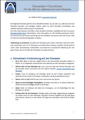 Ramadan-Checkliste (Islam-leben.de)