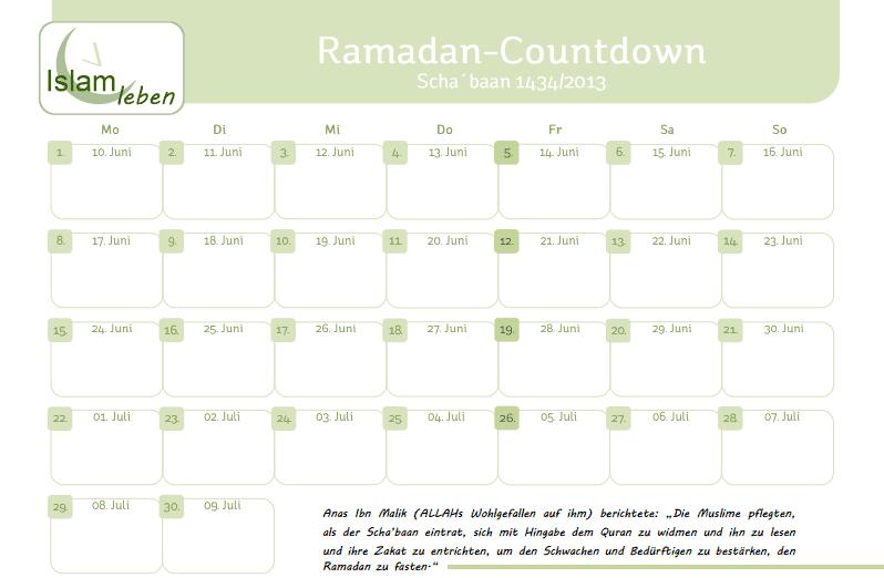 ramadan kalender 2018 pdf